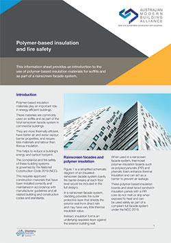 AMBA Information Sheet 3 - Polymer-based insulation and fire safety
