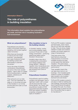 AMBA Information Sheet 2 - The role of polyurethanes in building insulation