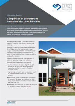 AMBA Information Sheet 6 - Comparison of polyurethane insulation with other insulants