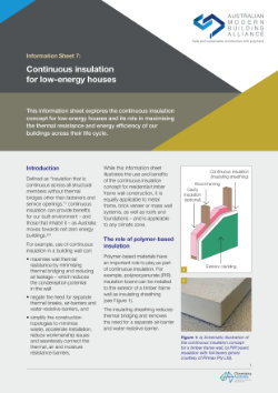 AMBA Info Sheet 7 - Continuous insulation for low-energy houses