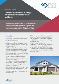 AMBA Infosheet 8 - Condensation control in energy efficient Australian residential buildings